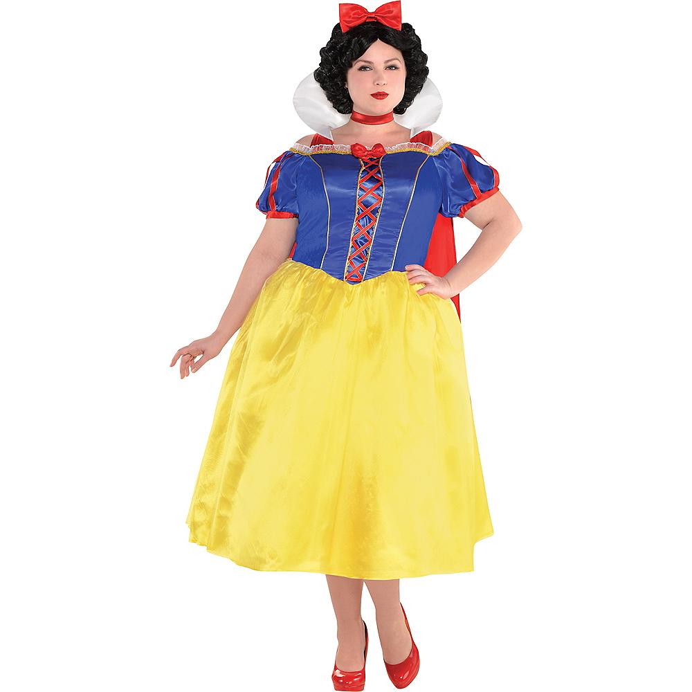 Adult Snow White Dress Costume Plus Size Image #1