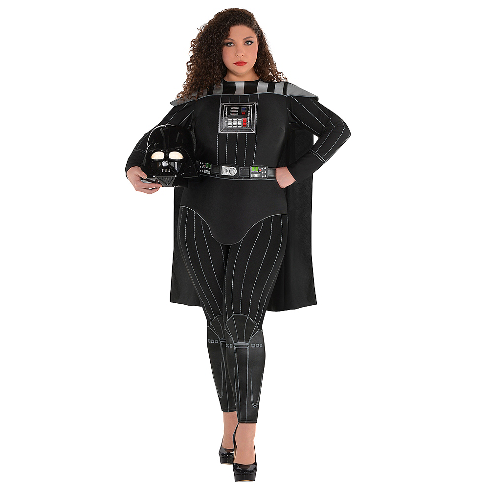 Adult Darth Vader Jumpsuit Costume Plus Size Star Wars Party