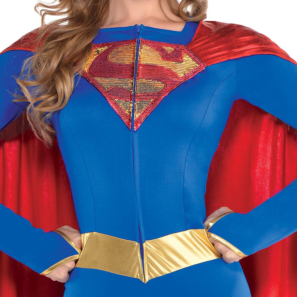 Adult Supergirl Jumpsuit Costume - Superman Image #2