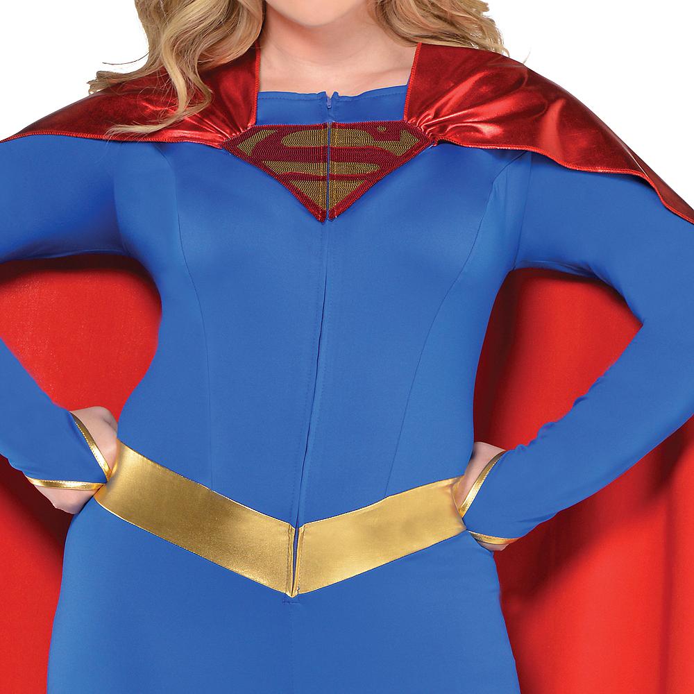 Adult Supergirl Jumpsuit Costume Plus Size - Superman Image #2