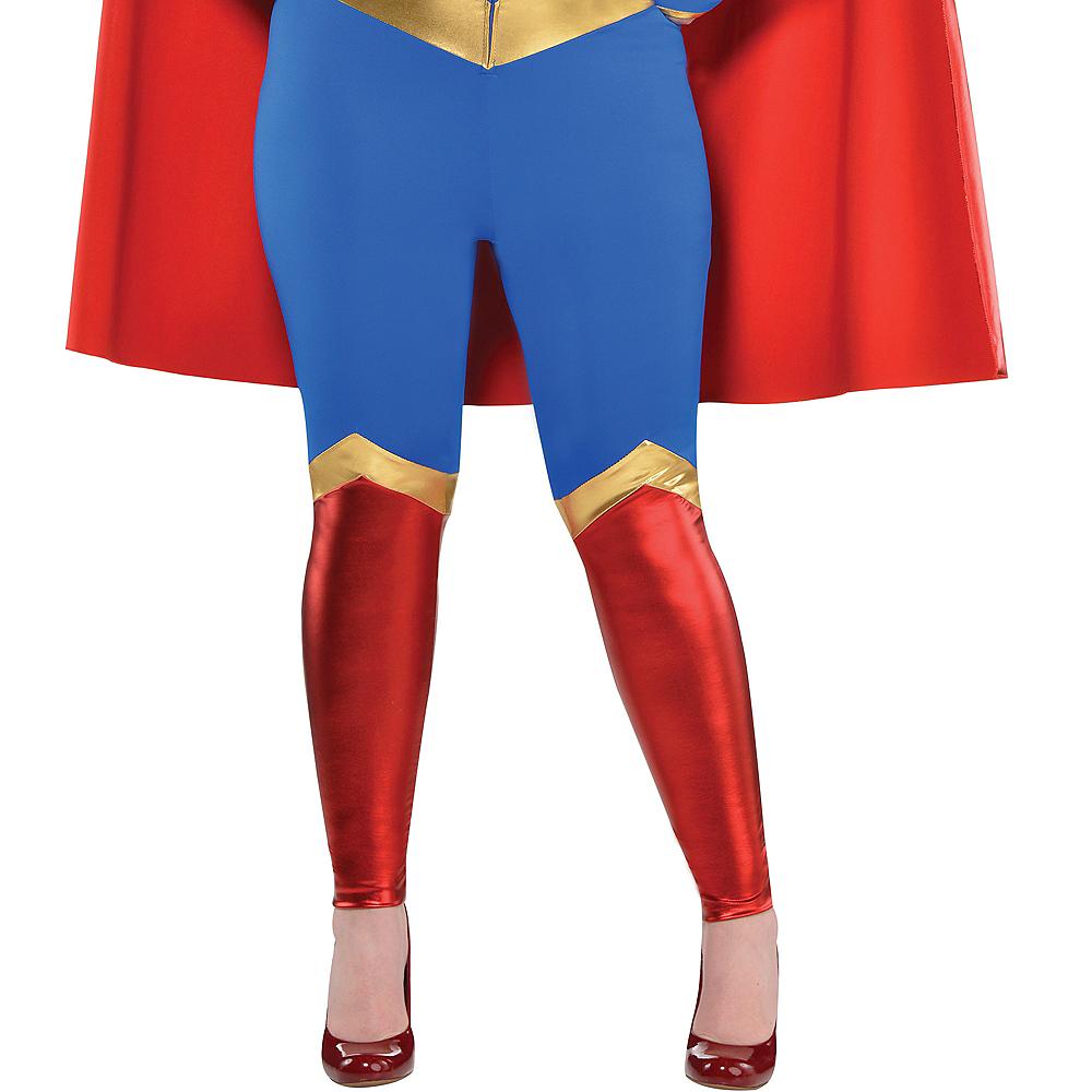 Adult Supergirl Jumpsuit Costume Plus Size - Superman Image #3