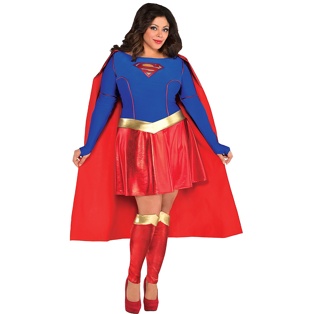 Adult Supergirl Costume Plus Size - Superman Image #1