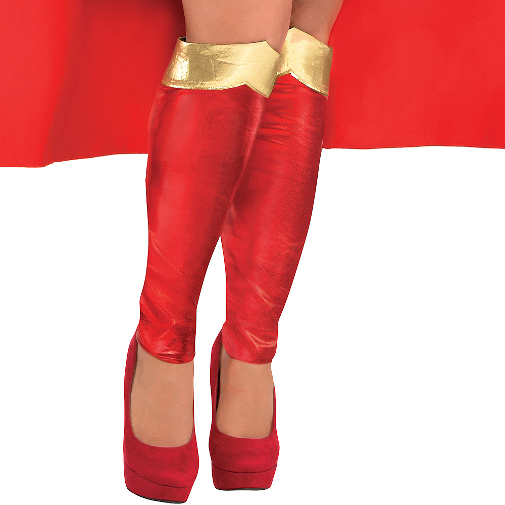Nav Item for Adult Supergirl Costume Plus Size - Superman Image #4