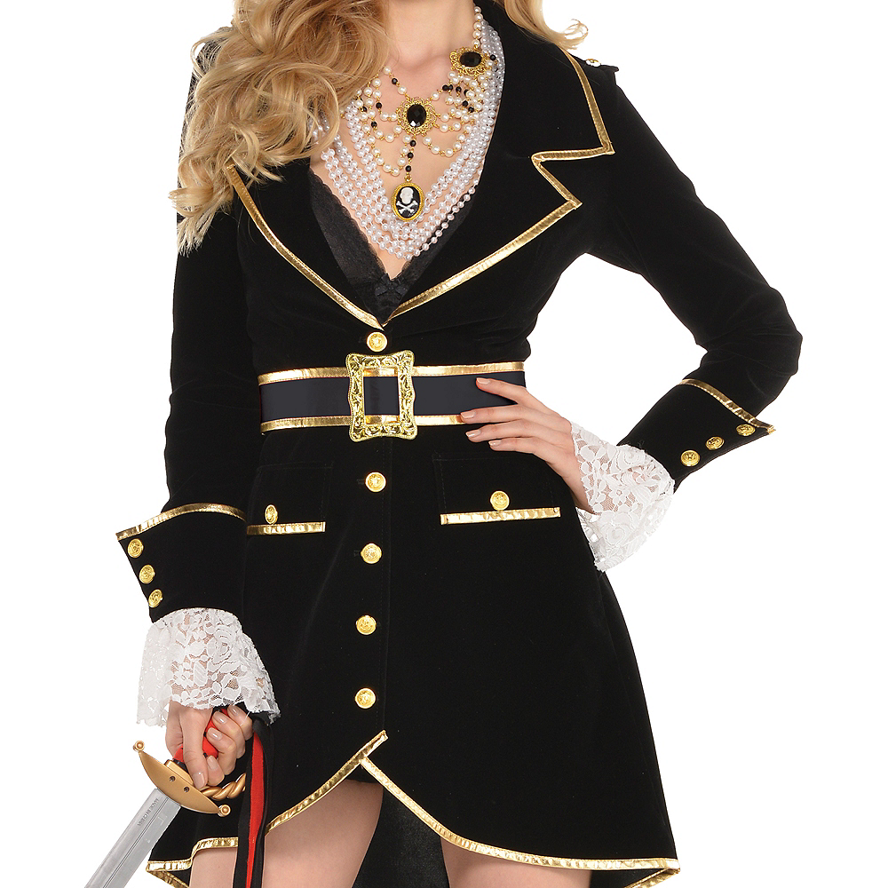 Nav Item for Adult Treasure Vixen Pirate Costume Image #3