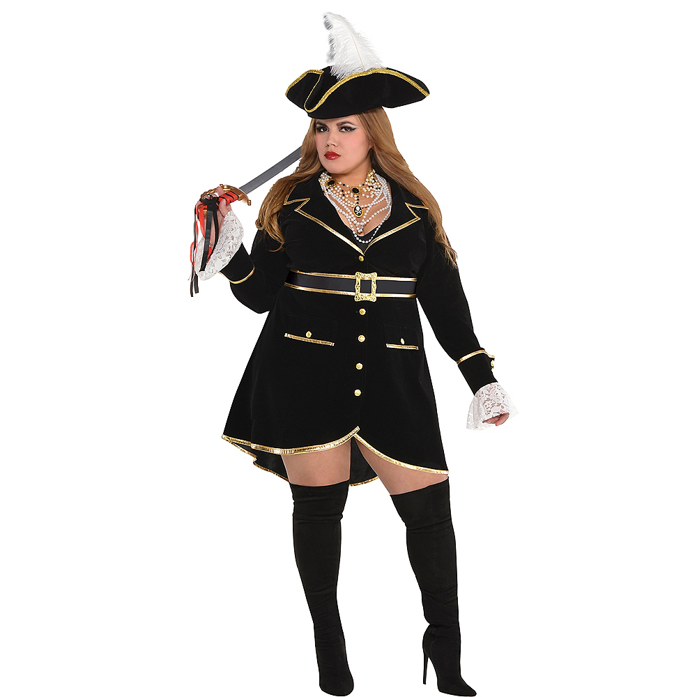 4536a3f9395 Adult Treasure Vixen Pirate Costume Plus Size