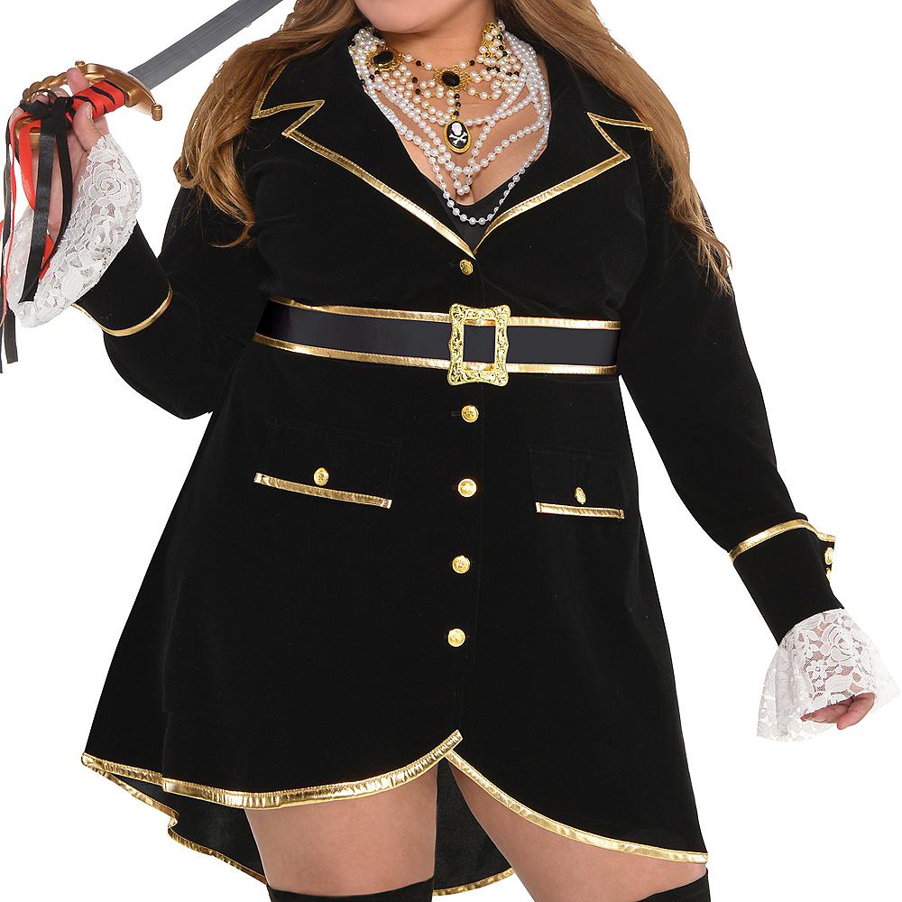 Adult Treasure Vixen Pirate Costume Plus Size Image #3