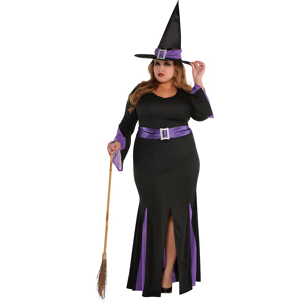 Adult Witchy Witch Costume Plus Size Image #1
