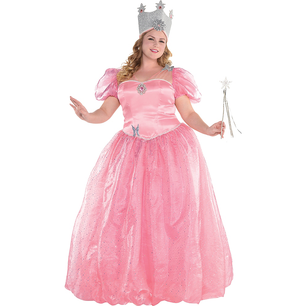 Nav Item for Womens Glinda Costume Plus Size - Wizard of Oz Image #1