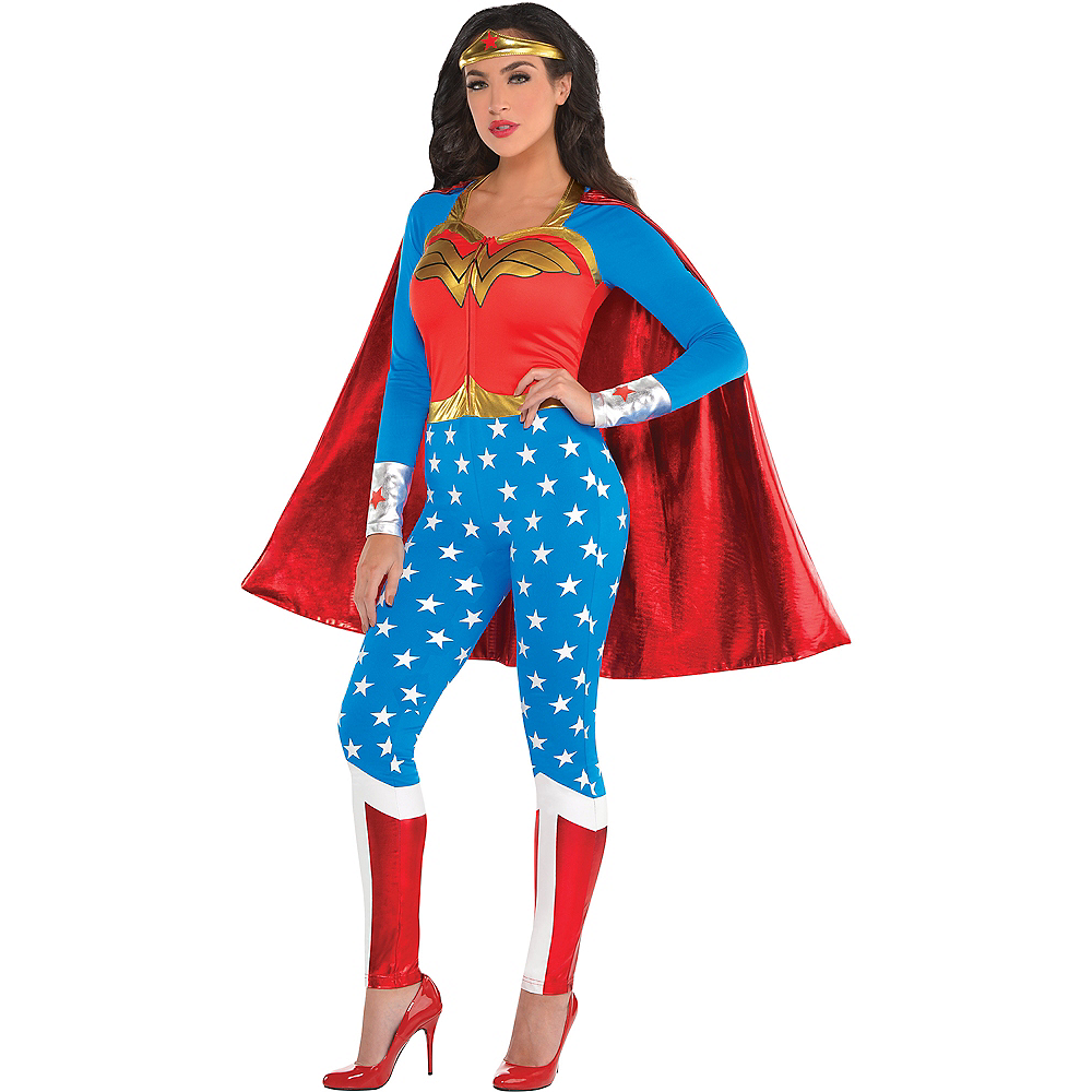 Nav Item for Adult Wonder Woman Jumpsuit Costume Image #1