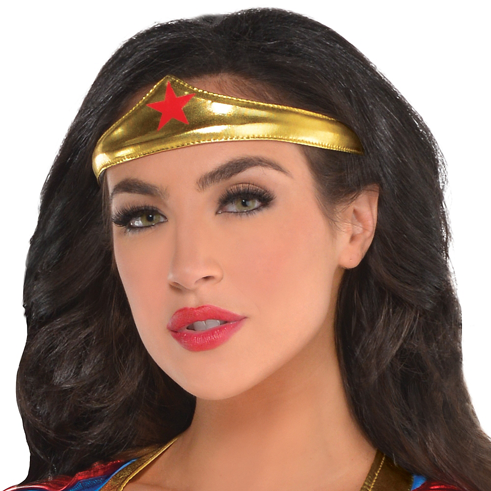 Nav Item for Adult Wonder Woman Jumpsuit Costume Image #2