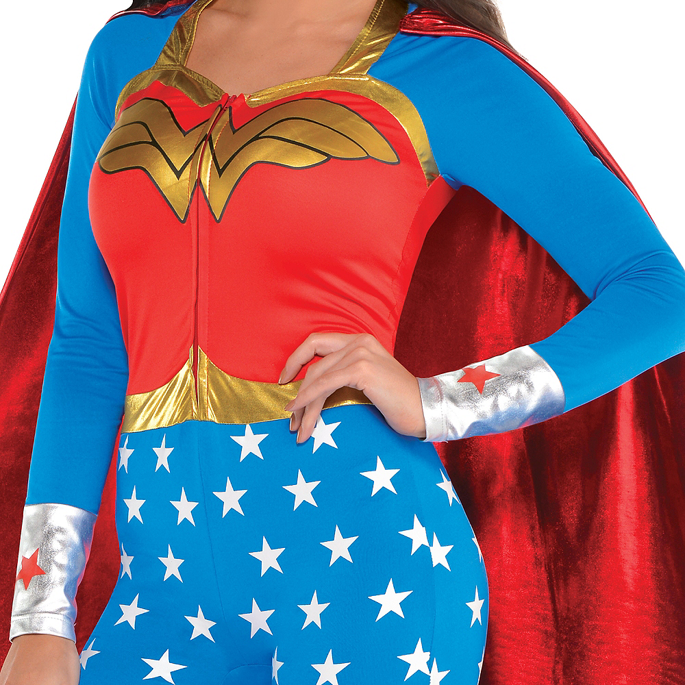 Nav Item for Adult Wonder Woman Jumpsuit Costume Image #3