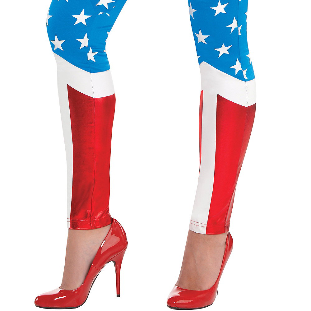 Nav Item for Adult Wonder Woman Jumpsuit Costume Image #4