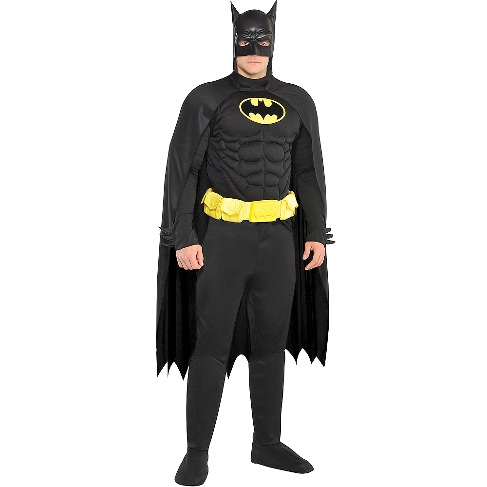 Adult Batman Muscle Costume Image #1