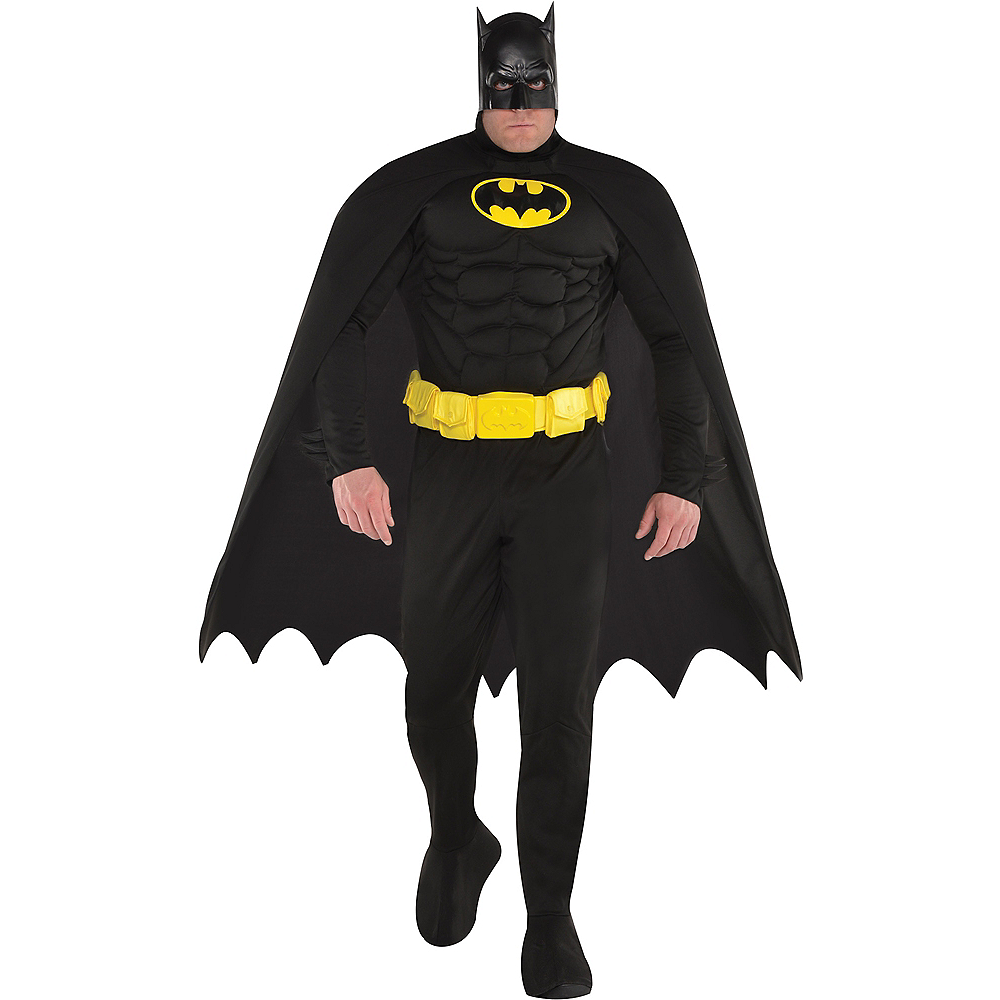 Adult Batman Muscle Costume Plus Size Image #1