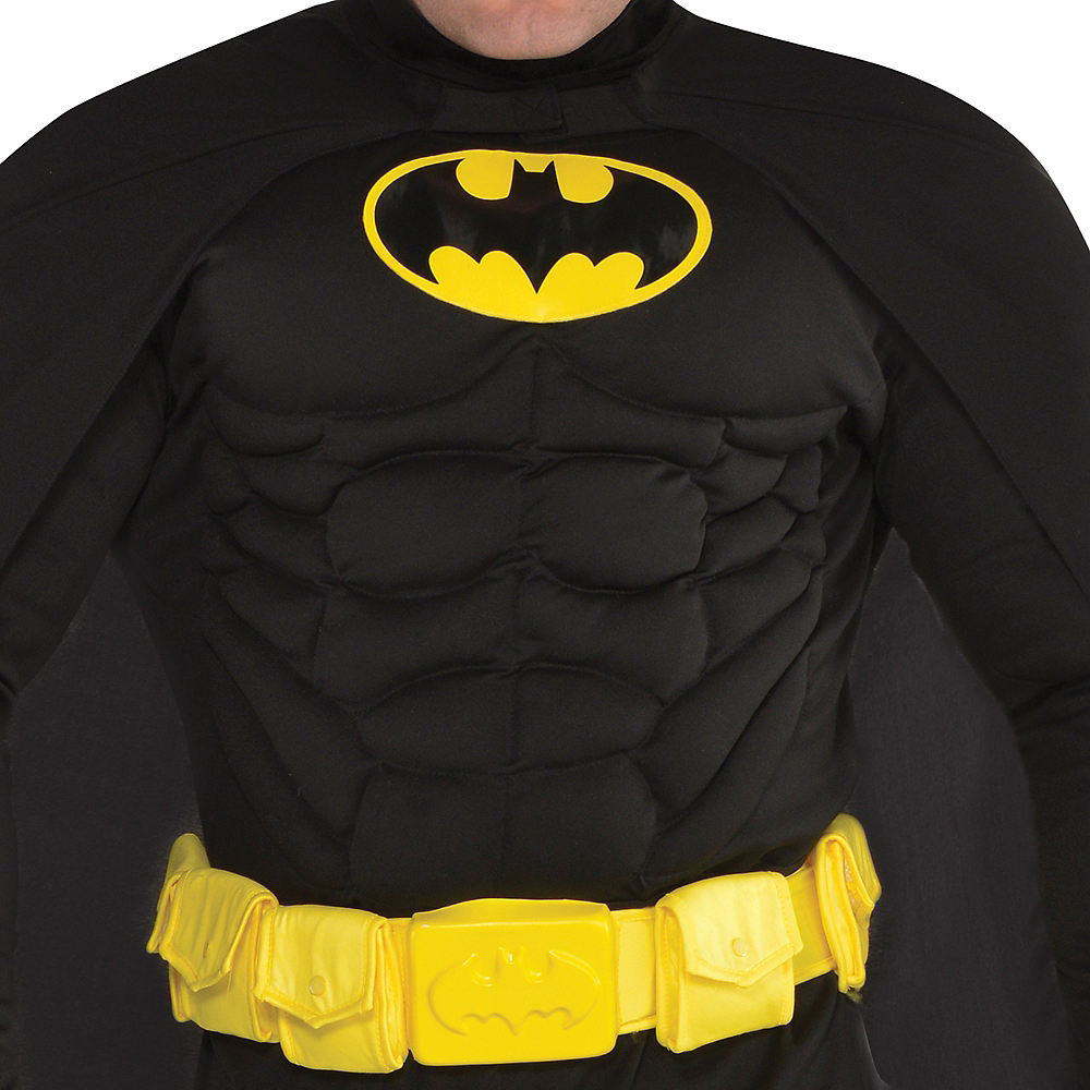 Adult Batman Muscle Costume Plus Size Image #3