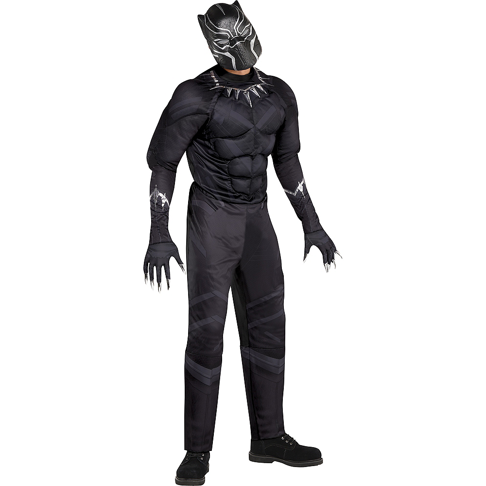 adult black panther muscle costume black panther