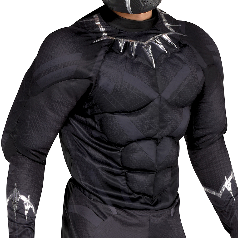 Adult Black Panther Muscle Costume - Black Panther Image #3