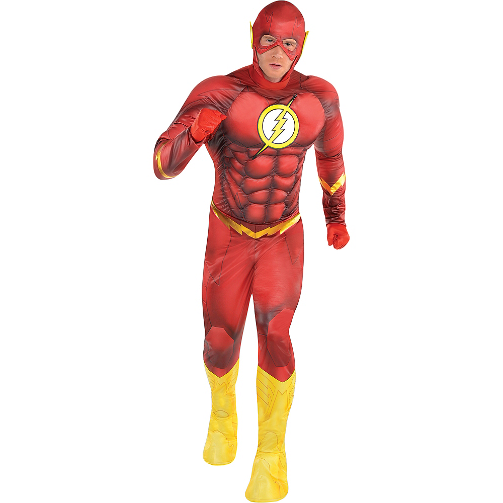 Adult The Flash Muscle Costume - DC Comics New 52 Image #1