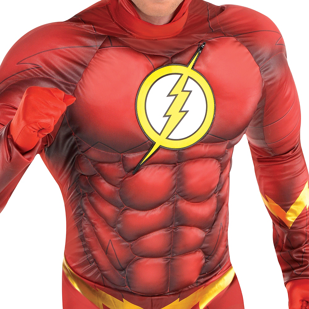 Adult The Flash Muscle Costume - DC Comics New 52 Image #3