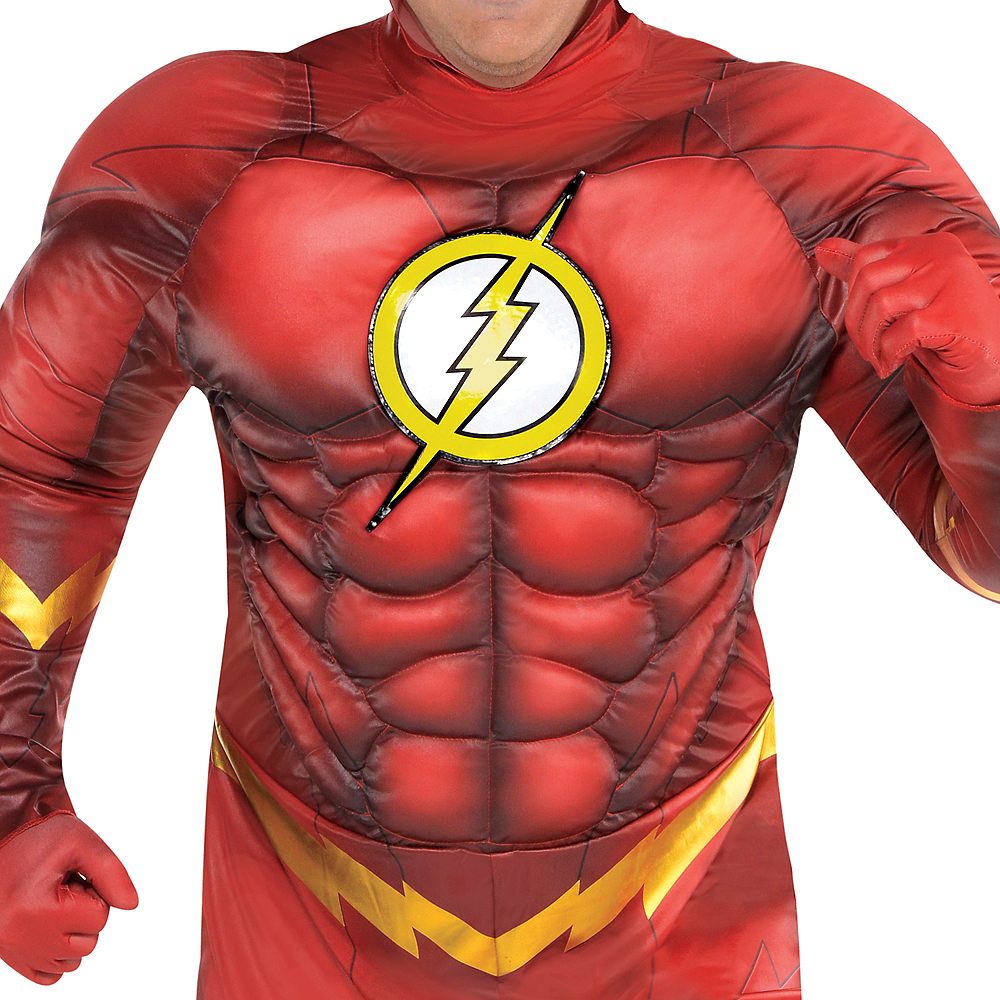 Adult The Flash Muscle Costume Plus Size - DC Comics New 52 Image #3