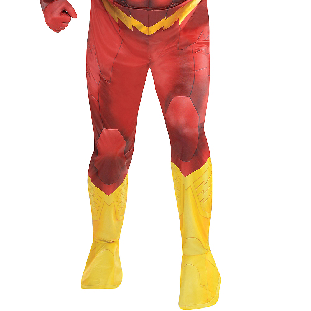 Adult The Flash Muscle Costume Plus Size - DC Comics New 52 Image #4