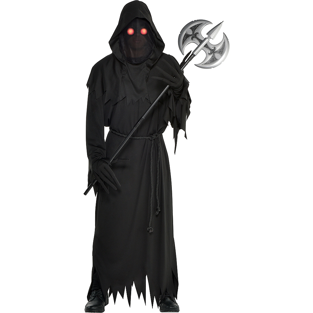 f59015b318 Mens Light-Up Glaring Grim Reaper Costume Image  1 ...