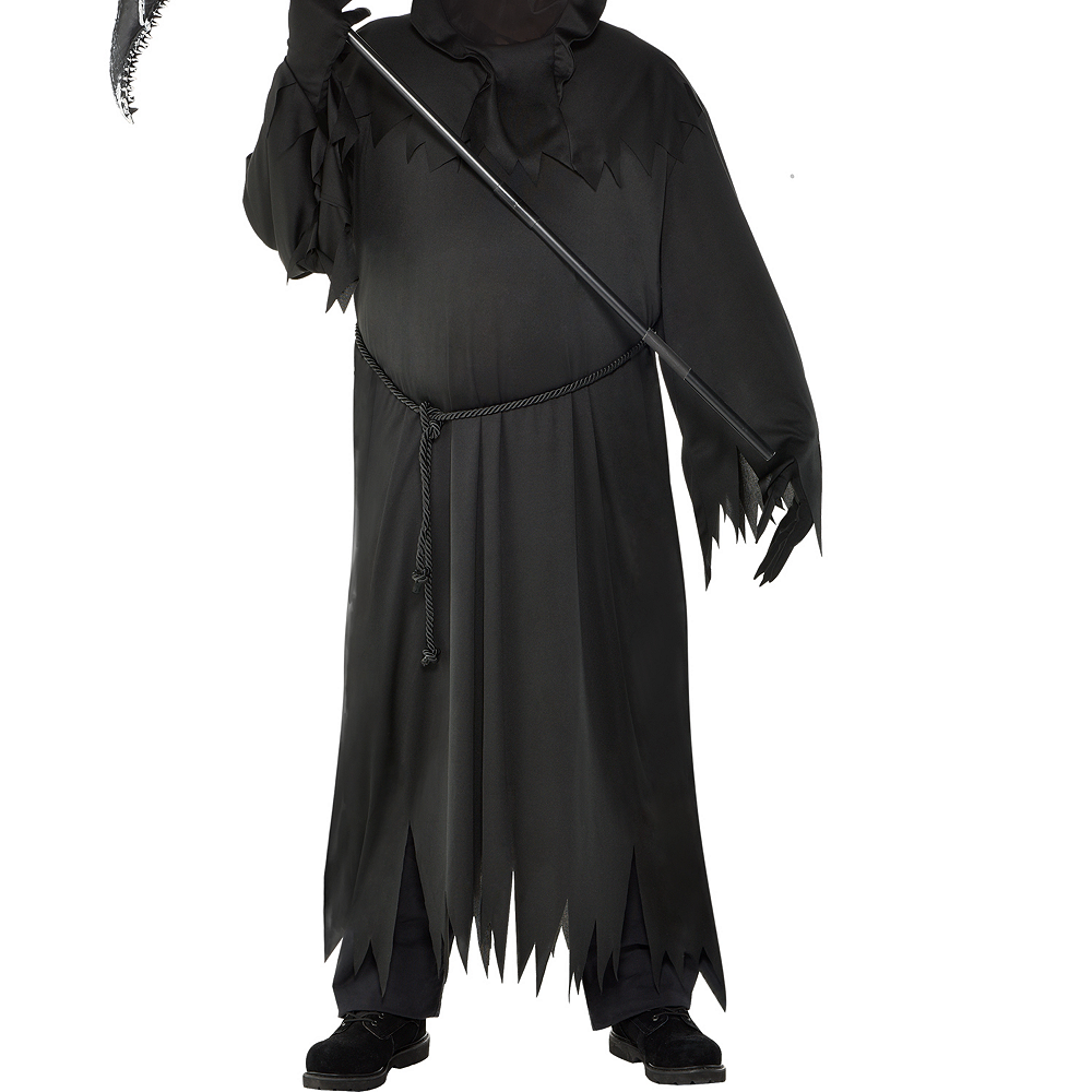 Mens Light-Up Glaring Grim Reaper Costume Plus Size Image #3