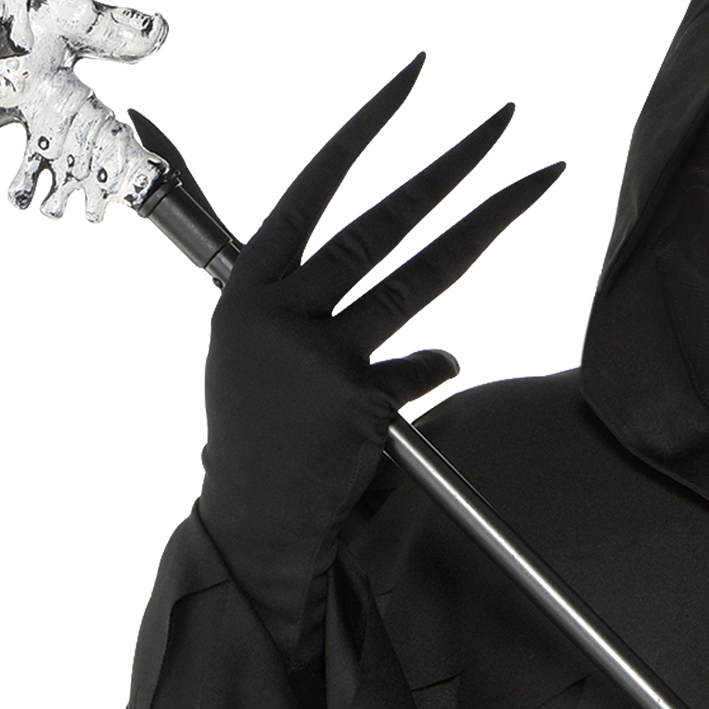 Mens Light-Up Glaring Grim Reaper Costume Plus Size Image #4