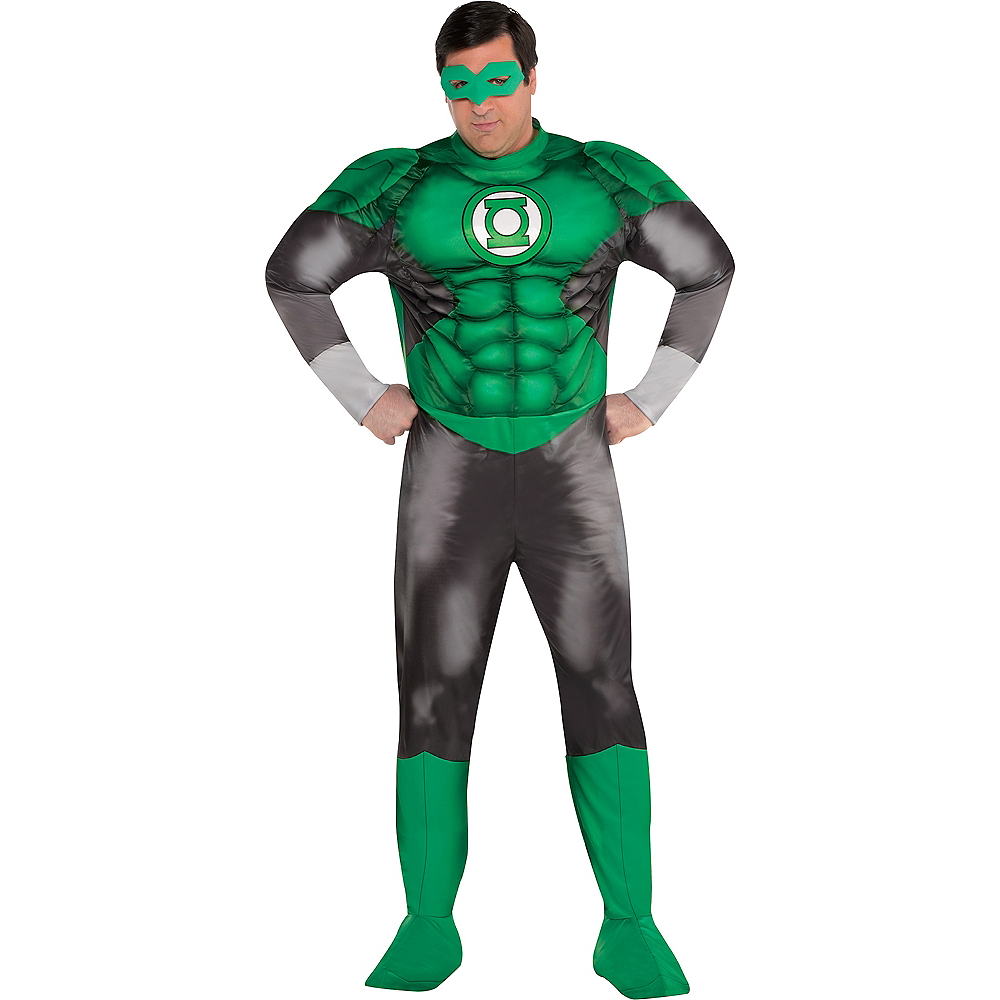 Adult Green Lantern Muscle Costume Plus Size - DC Comics New 52 Image #1