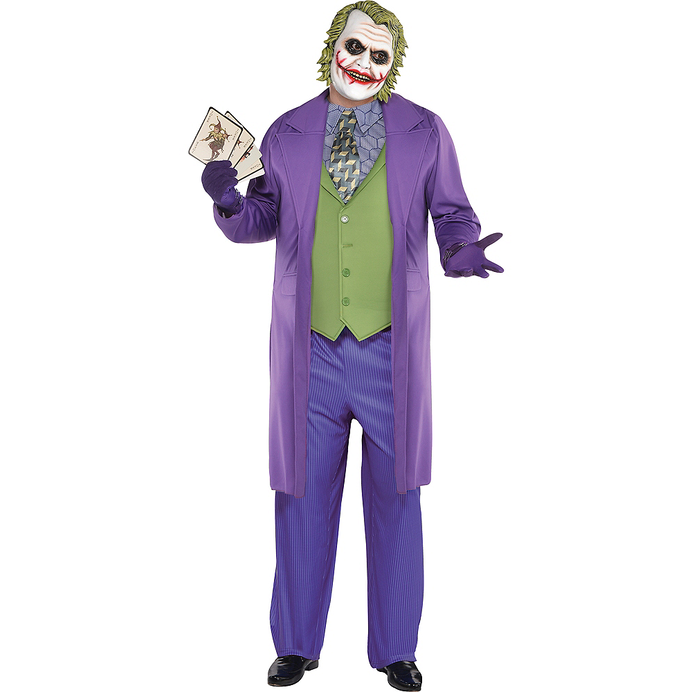 Nav Item for Adult Joker Costume Plus Size - The Dark Knight Image #1