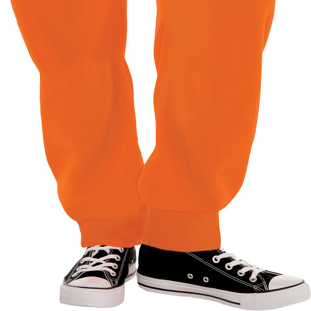Adult Zipster Jack-o'-Lantern One Piece Costume Image #4