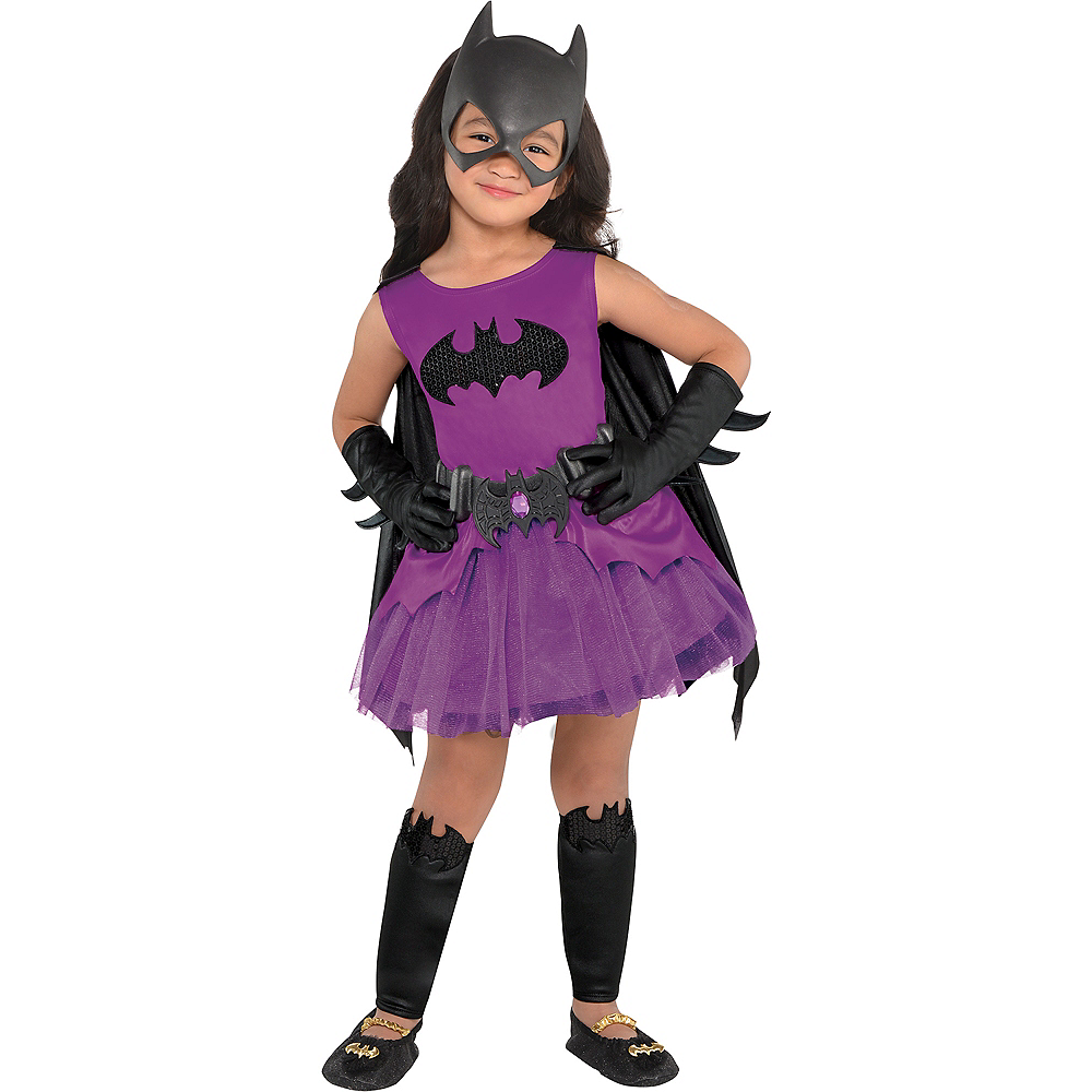 Toddler Girls Purple Batgirl Costume - Batman Image #1