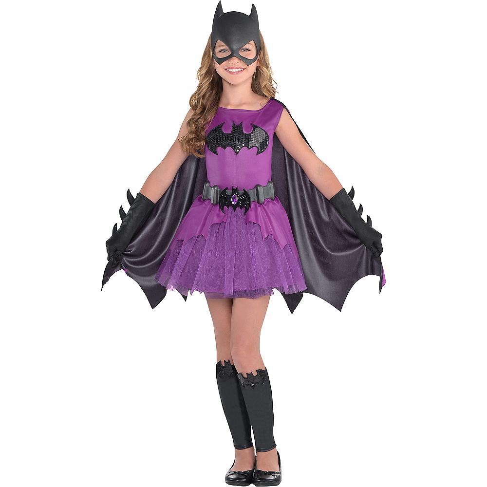 Girls Purple Batgirl Costume - Batman Image #1