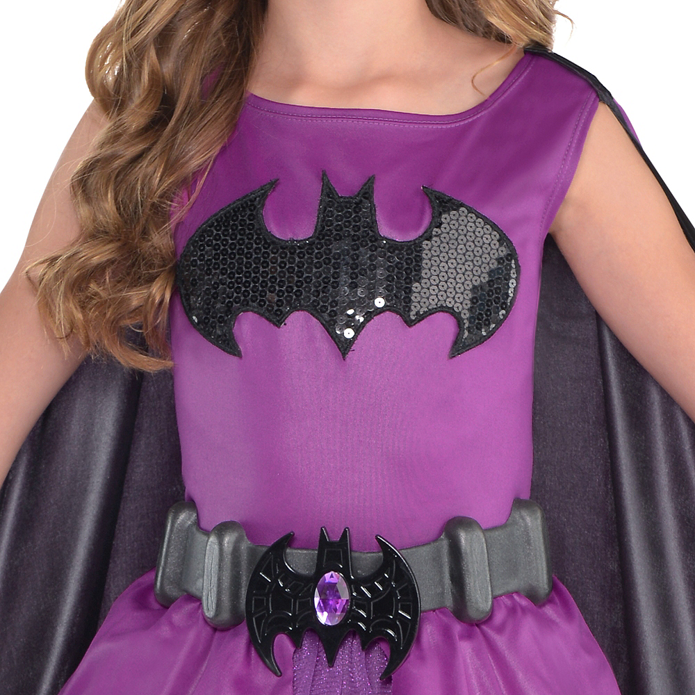 Girls Purple Batgirl Costume - Batman Image #3