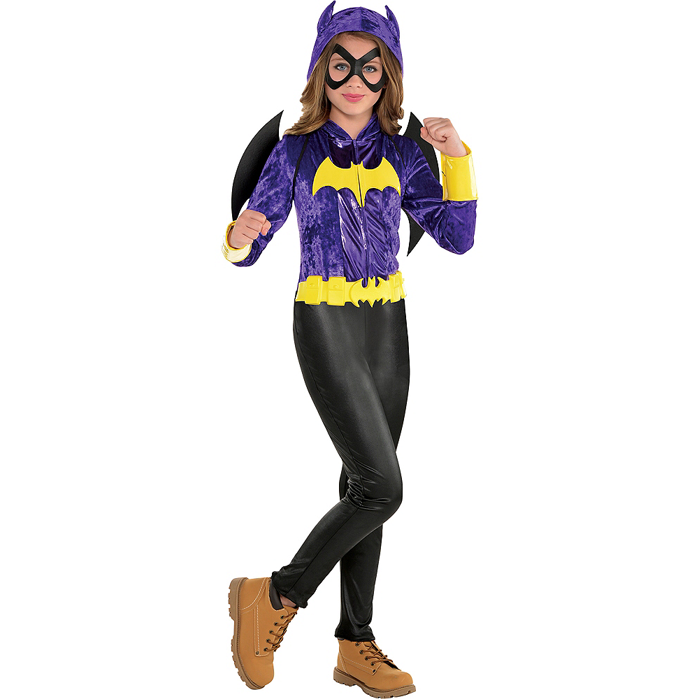 Girls Batgirl Jumpsuit Costume Dc Super Hero Girls