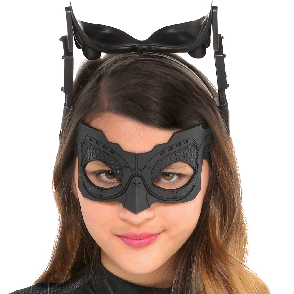 Girls Black Catwoman Costume - The Dark Knight Rises Batman Image #2