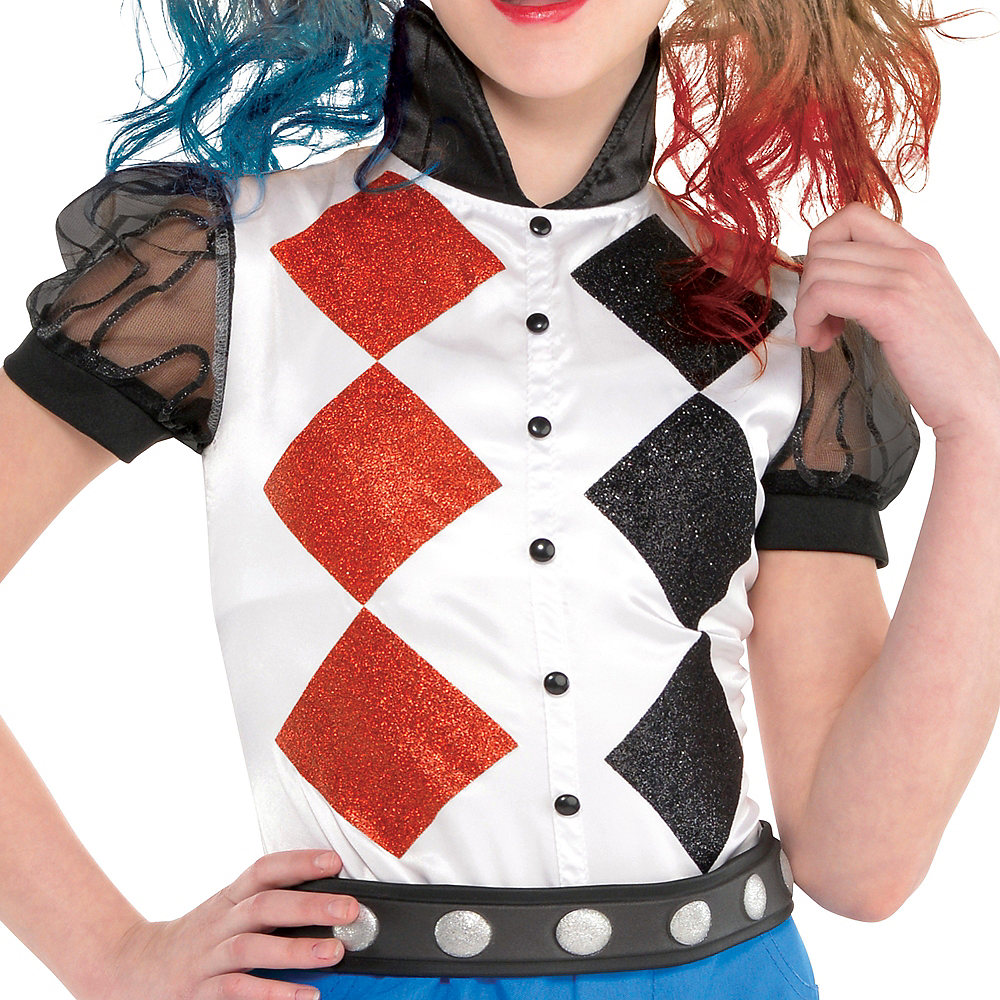 Nav Item for Girls Romper Harley Quinn Costume - DC Super Hero Girls Image #3