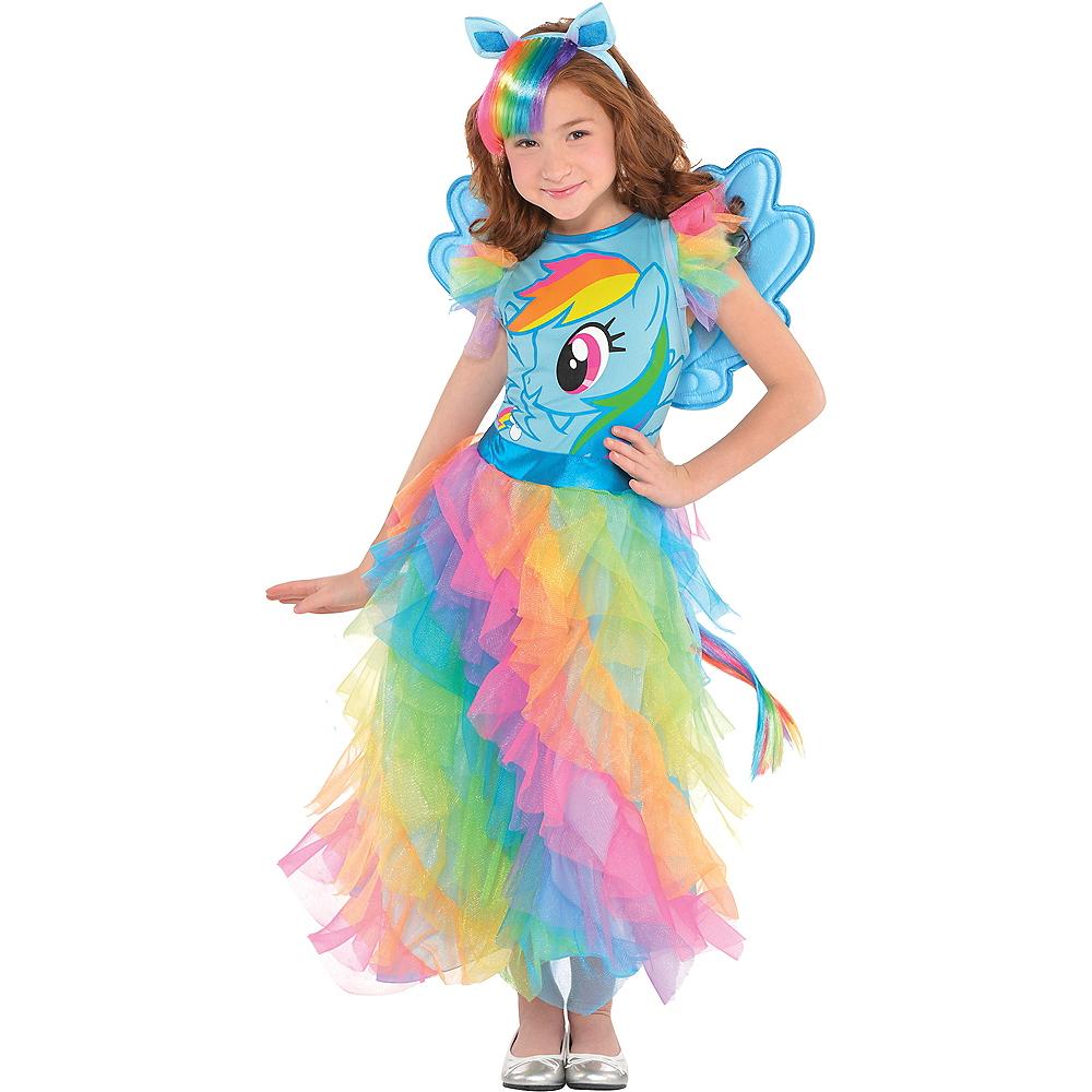 Girls Rainbow Dash Dress Costume - My Little Pony Image #1