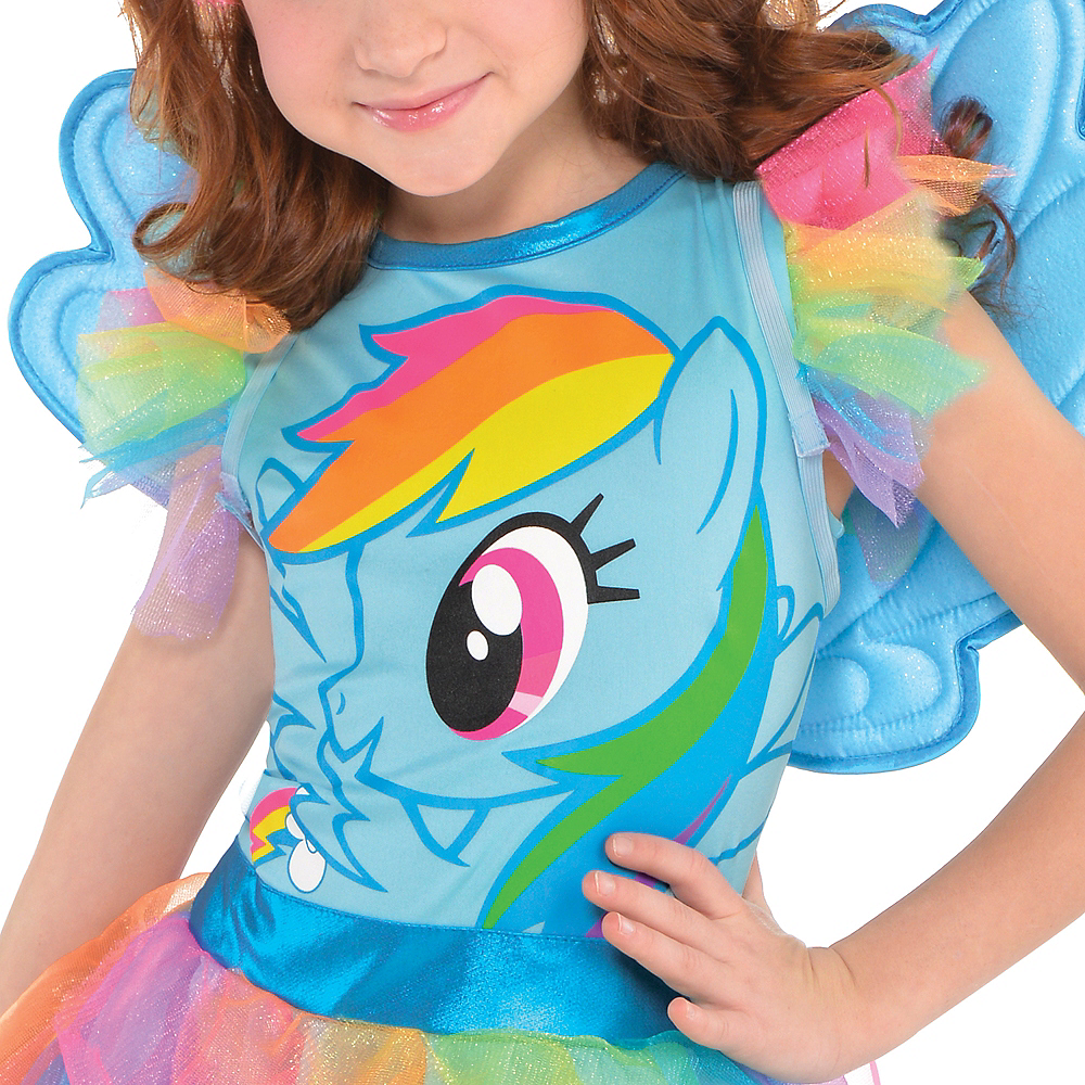 Girls Rainbow Dash Dress Costume - My Little Pony Image #3