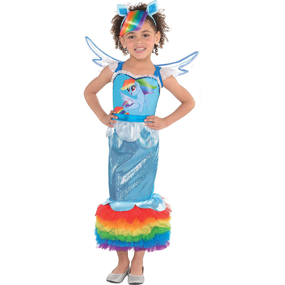Girls Rainbow Dash Mermaid Costume - My Little Pony Image #1