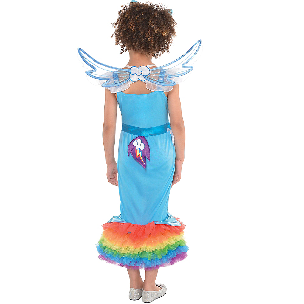 Girls Rainbow Dash Mermaid Costume - My Little Pony Image #2