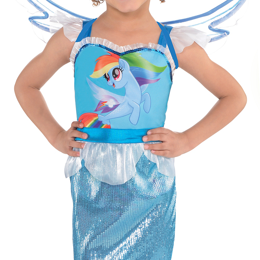 Girls Rainbow Dash Mermaid Costume - My Little Pony Image #3
