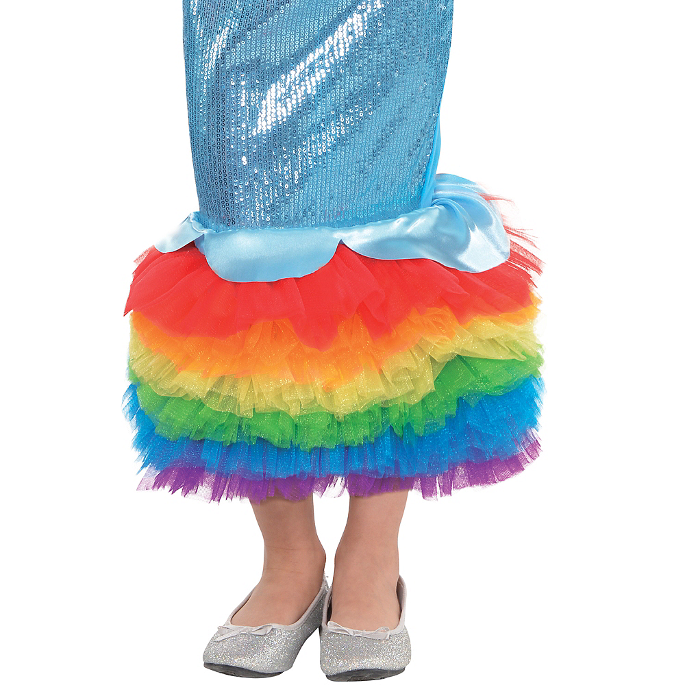 Girls Rainbow Dash Mermaid Costume - My Little Pony Image #4