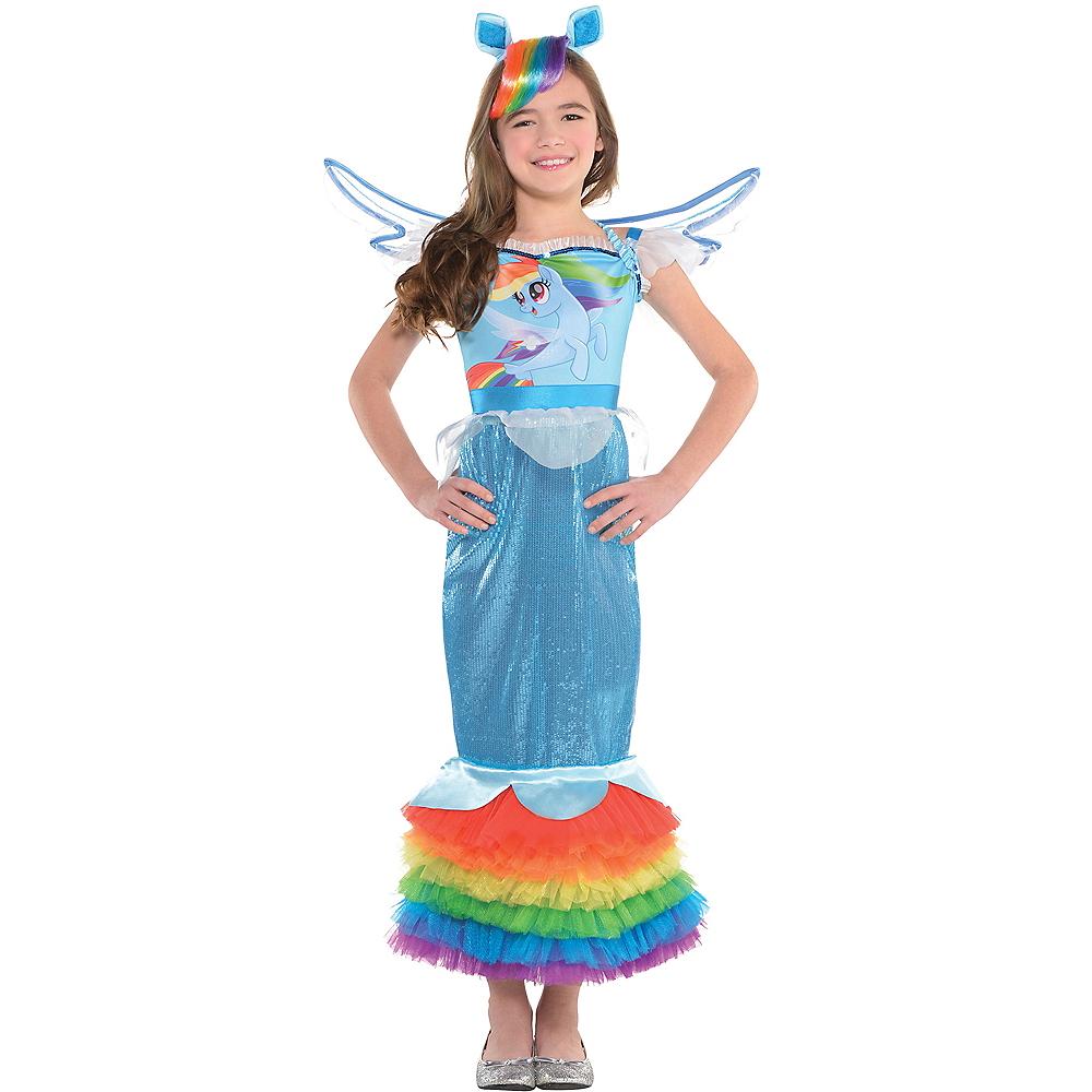 Girls Rainbow Dash Mermaid Costume - My Little Pony Image #1