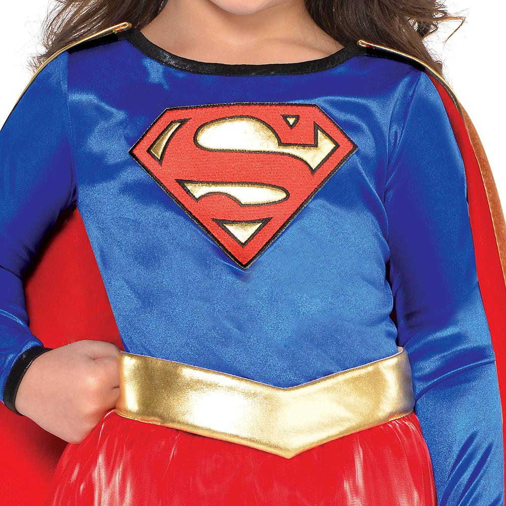 Toddler Girls Classic Supergirl Costume - Superman Image #2