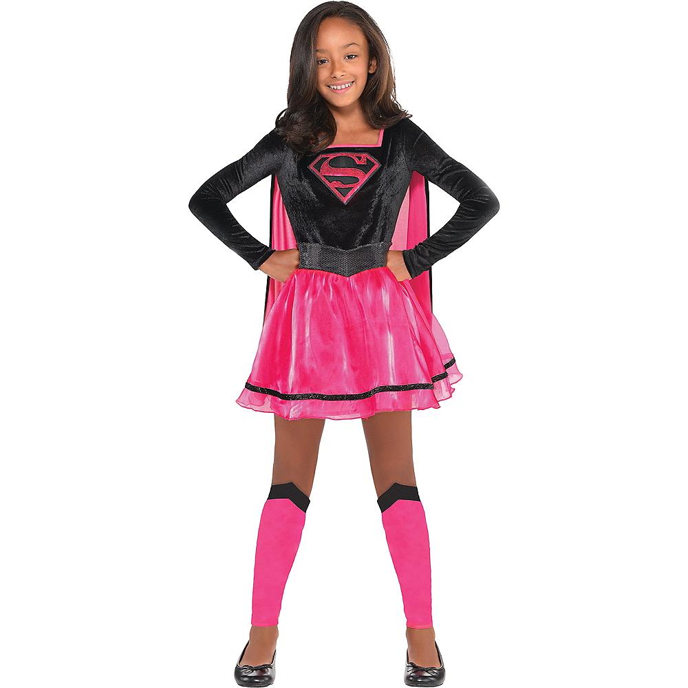 Girls Pink Supergirl Dress Costume - Superman Image #1