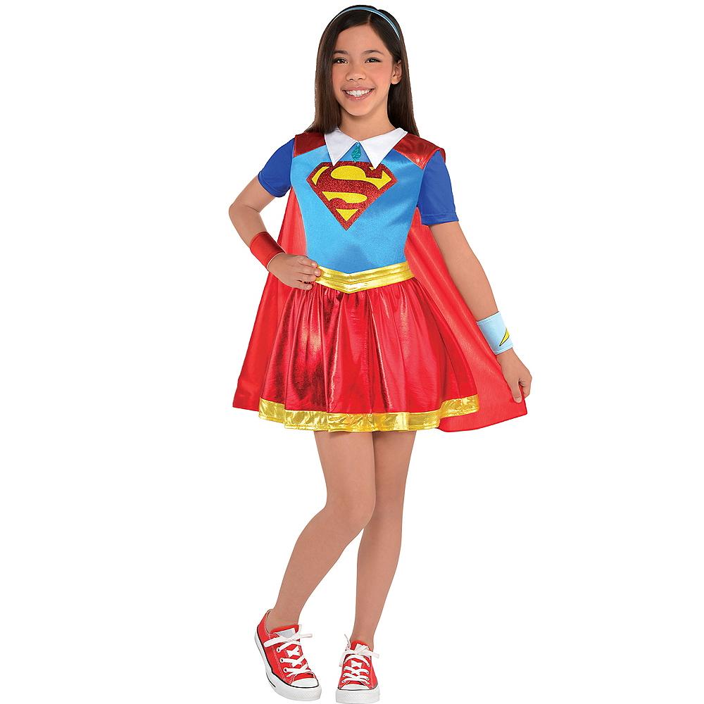 Girls Supergirl Dress Costume - DC Super Hero Girls Image #1