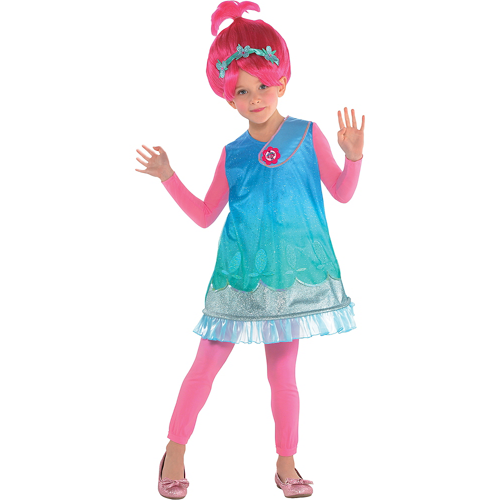 Girls Poppy Costume - Trolls Image #1