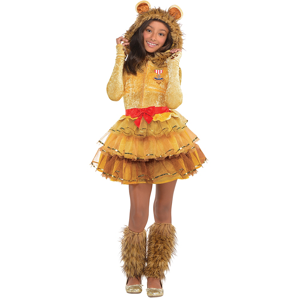 Girls Cowardly Lion Costume - Wizard of Oz Image #1