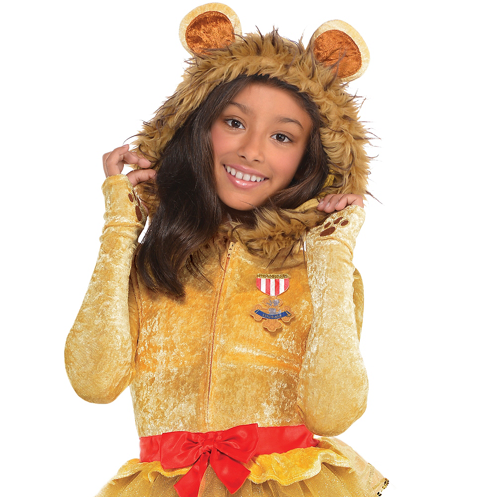 Girls Cowardly Lion Costume - Wizard of Oz Image #2